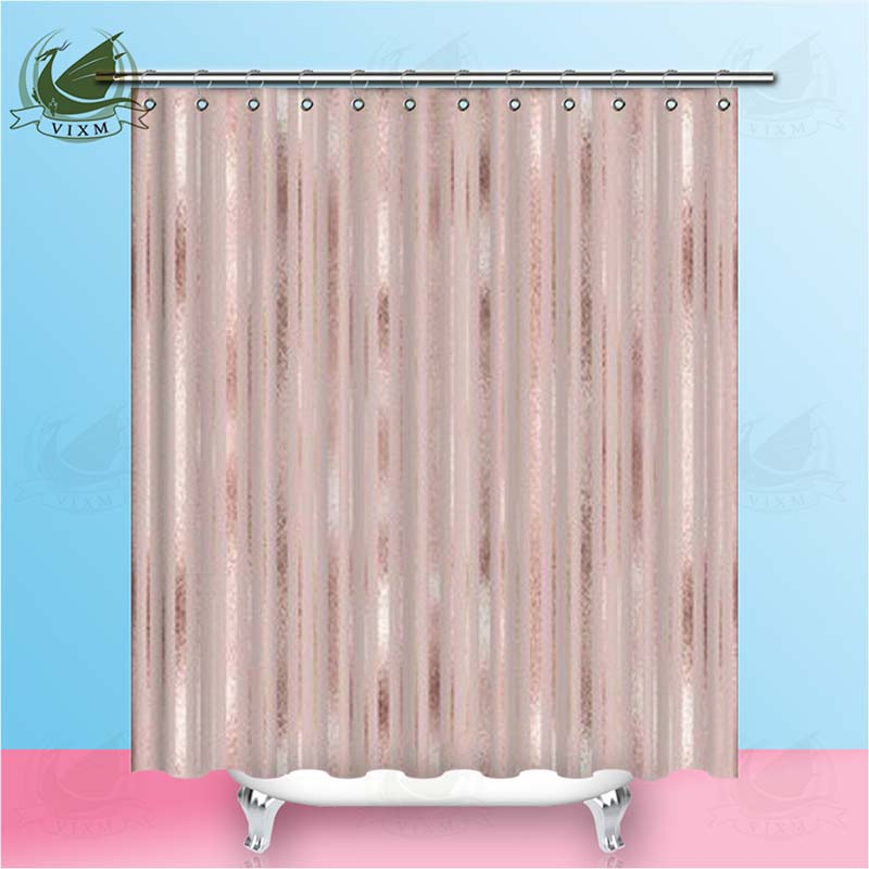 Vixm Vintage American Color Stripe Pattern Shower Curtains Polyester Fabric Curtains For Home Decor