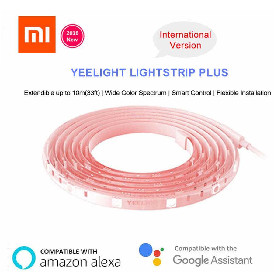 Xiao mi mi jia Yeelight Luz Tira Mais para 10m Versão Upgrated de Extensão Inteligente Tira CONDUZIDA Faixa de Luz de trabalho para mi casa app