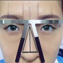 Линейка для татуажа бровей, трафарет с тремя точками, инструменты для перманентного макияжа, новинка