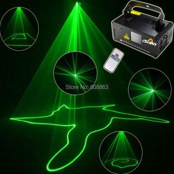 ESHINY Mini Green Laser 50mW Line Scanner Beam Remote DMX DJ Dance Bar Coffer Shop Xmas Party Disco Lighting Light Show B110D3
