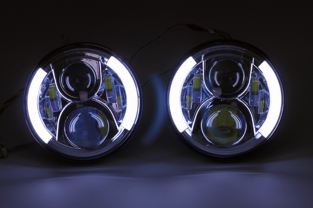 7 Inches Round Silver Version LED Projector Headlight With