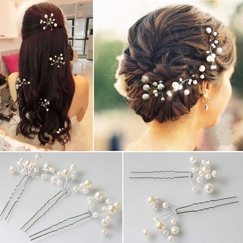 4 pieces bridal hair accessories headpiece jewelry