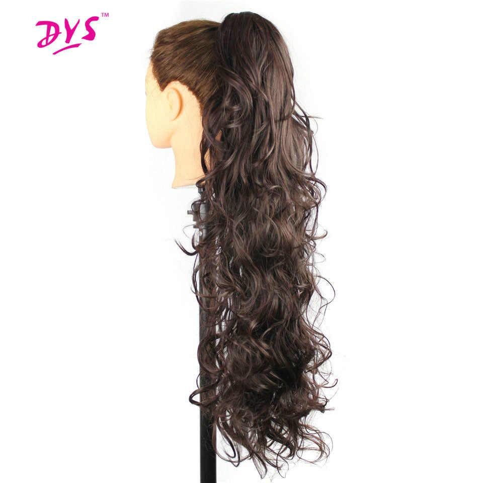 Deyngs 30 pulgadas largo rizado Cola de Caballo pinza sintética en cola de caballo extensión Natural falsa mujer peluca resistente al calor