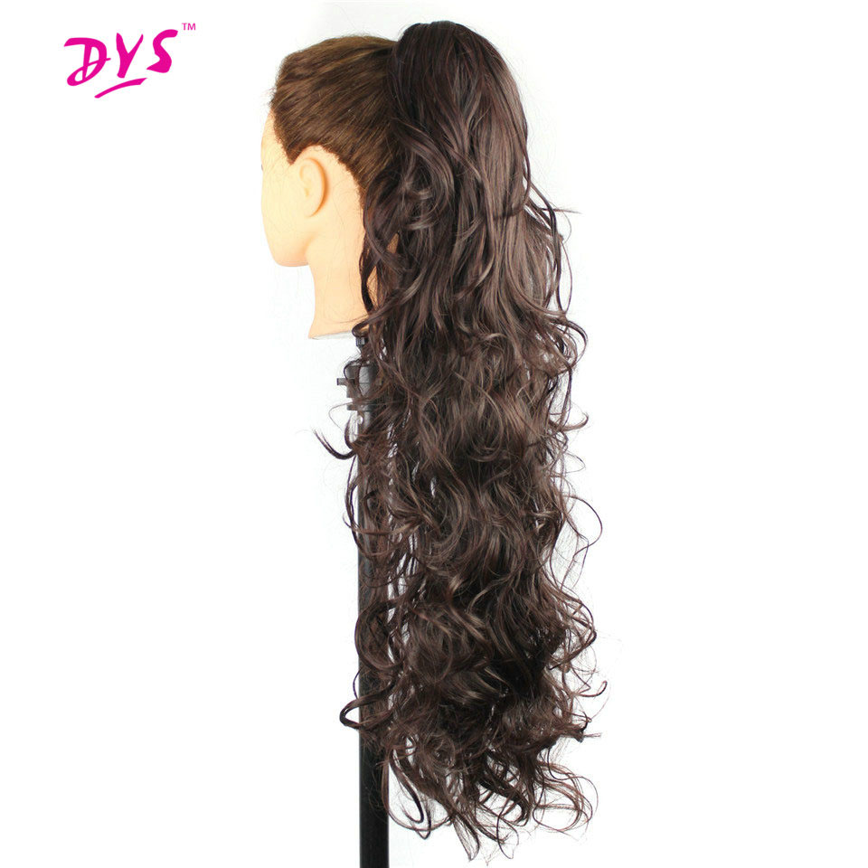 Deyngs 30inch Long Curly Ponytail Synthetic Claw In Pony Tail Hair Tress Extension Natural False Women