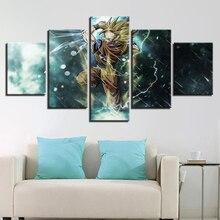 Современные Книги по искусству работы Домашний Декор стены Книги по искусству парусина принт 5 Панель c Книги по искусству Ун анимация Dragon Ball Характер масло Картины для гостиная