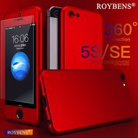 Roybens For IPhone 5 5S SE Case Luxury 360 Degree Coverage Full Protect Cover Case Front