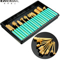 Professional 12Pcs Nail Drill Bits File Grinding Head Set Electric Machine Gold Coated Carbide Manicure Care Tools Kits