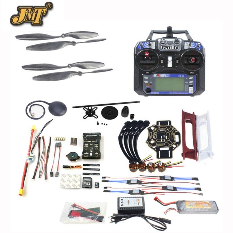 купить JMT DIY FPV Drone Quadcopter 4-axle Aircraft Kit 450 Frame PXI PX4 Flight Control 920KV Motor GPS FS-i6 Transmitter недорого