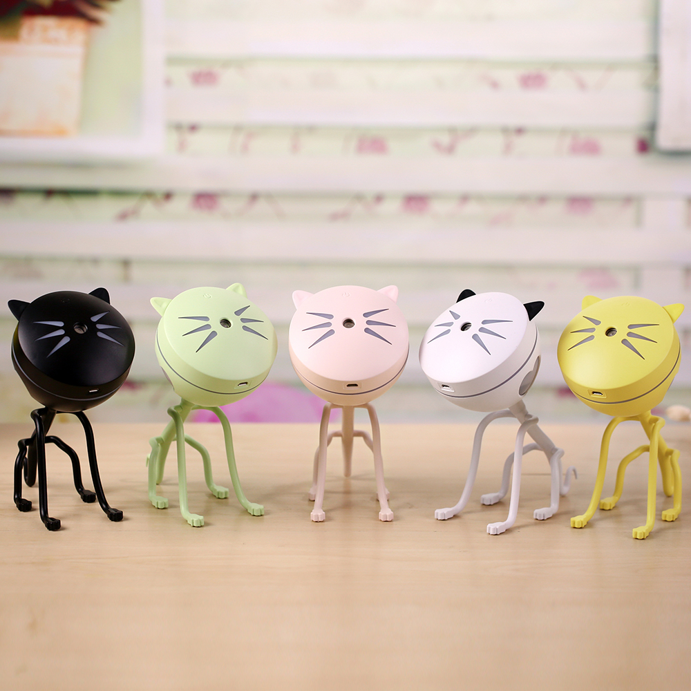 2018 New Cute Kitty Humidifier Removable Household USB Kitty Mist Maker 150ML Capacity with Colorful Night Light Aroma Diffuser