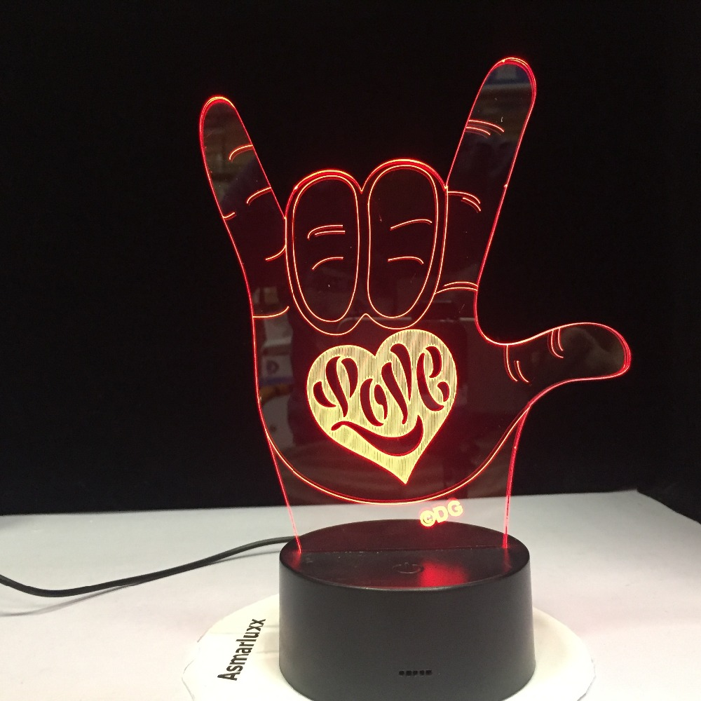 I LOVE YOU Sweet Lover Heart Balloon 3D LED USB Lamp Romantic Decorative Colorful Night Light Girlfriend Mother's Day Deaf Gift