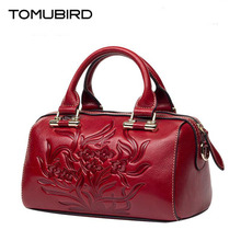 TOMUBIRD new Superior cowhide leather Luxury Retro embossed famous brand Tote bag fashion women genuine leather handbags