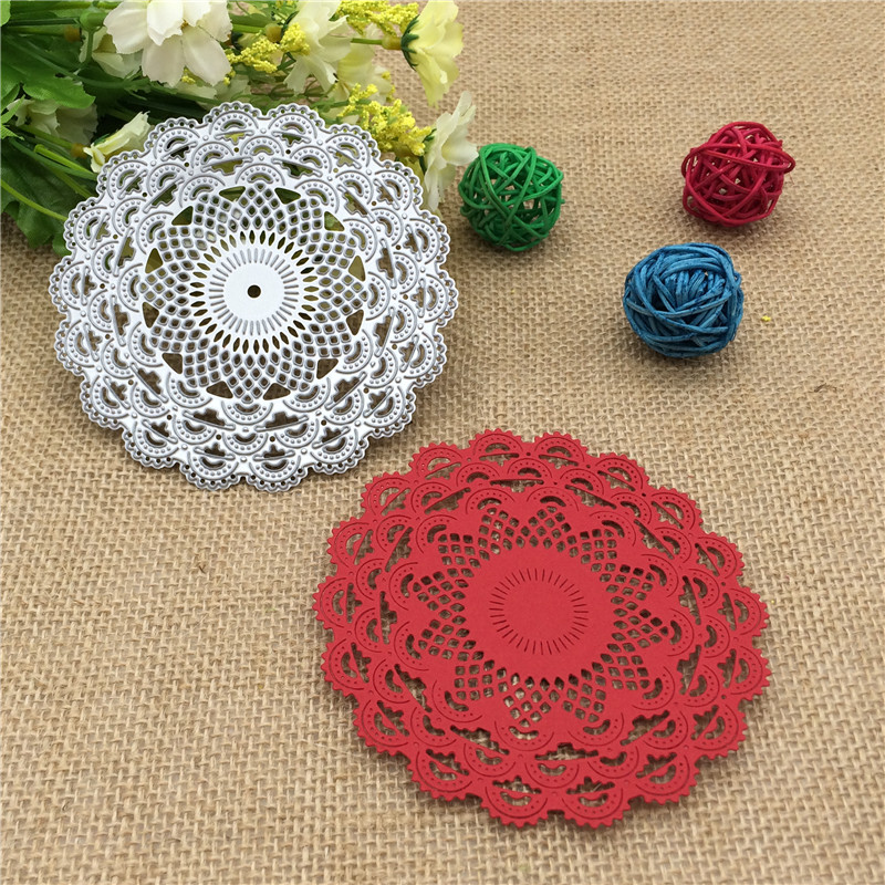 Delicate Floral Pattern Design Metal Die Cutting Dies Scrapbooking Embossing Die Cut Stencil DIY Decoative Wedding Cards