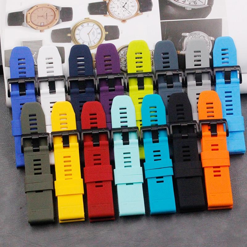 Silicone Strap Men's Watch Accessories Ardillon 26mm For Garmin Fenix 5X Ladies Outdoor Sports Waterproof Casual Strap Buckle