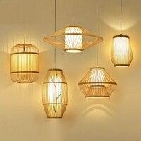 Japanese Restaurant Chinese creative Pendant Lights single head sheepskin corridor wood tatami bedside bamboo lamps LU630 ZL41