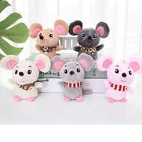 12cm Baby Kids Kawaii Cute Soft Plush Cartoon Animal Small Mouse KeyChain Toy Doll Pendant Stuffed Hamster Toy