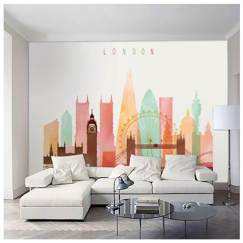 цены на discount London New york Paris city art mural home decor accessories for living room office free shipping в интернет-магазинах