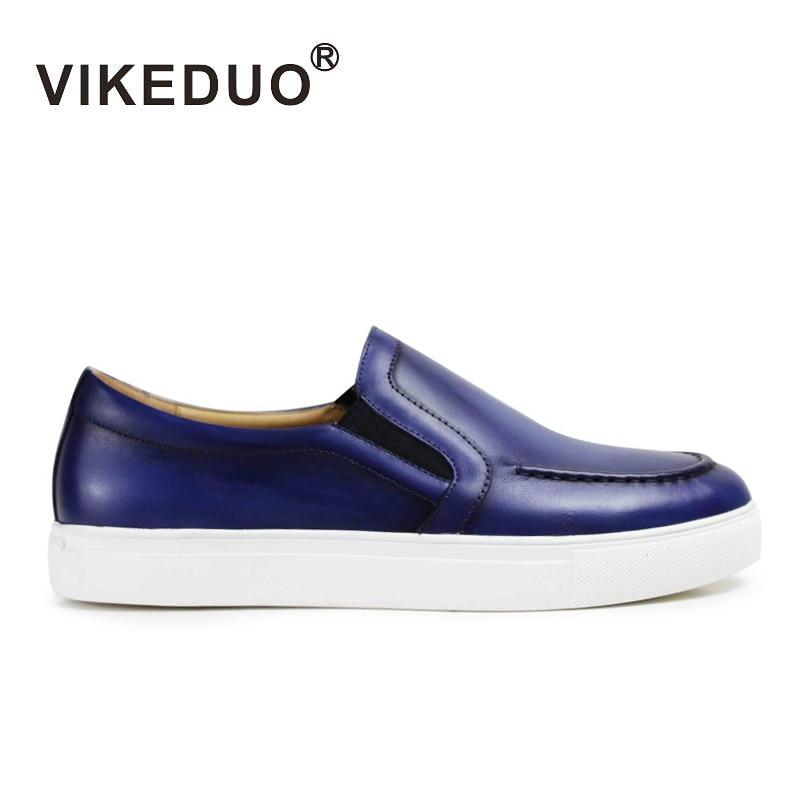 Vikeduo 2018 новые летние Для мужчин; лоферы из натуральной кожи Повседневное ручной работы Zapato Masculino одноцветное спортивный бренд мужской обуви ...