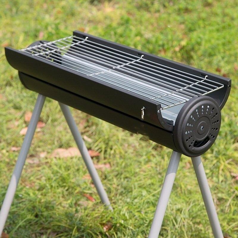 Barbecue 4 7 personnes équipement de Camping en plein air escalade chasse pêche famille amis fête Portable charbon de bois Barbecue outils - 2