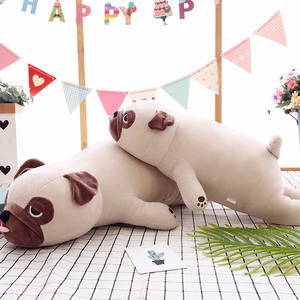 Image 3 - Nieuwe Leuke Animal Kawaii Hond Pop Kussen Baby Slaap Verjaardagscadeau Kind Meisje Zachte Sussen Pug Stuffedl 55Cm
