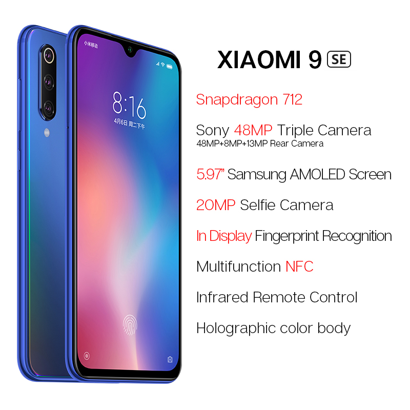 Image 3 - Global Version Xiaomi Mi 9 SE 6GB 128GB Snapdragon 712 5.97'' AMOLED 48MP Triple Camera Mobile Phone NFC In Screen Fingerprint-in Cellphones from Cellphones & Telecommunications