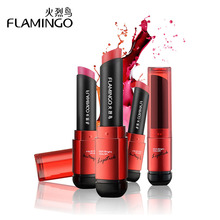 Free Shipping Flamingo Brand Food Grade Healthy Moisturizer Smooth Waterproof 6 Fashion Color Long Lasting Matte Lipstick 41004s