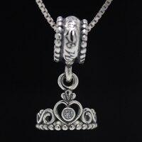 ROCKART 925 Sterling Silber Meine Prinzessin Tiara Anhänger Charm Passend Europäischen Stil Armbänder & Bangle Diy Schmuck Machen Beste Geschenk