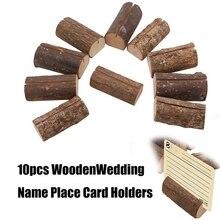 10 Uds decoración de madera para bodas nombre lugar tarjetero soporte de mesa para menús Vintage suministros para fiestas