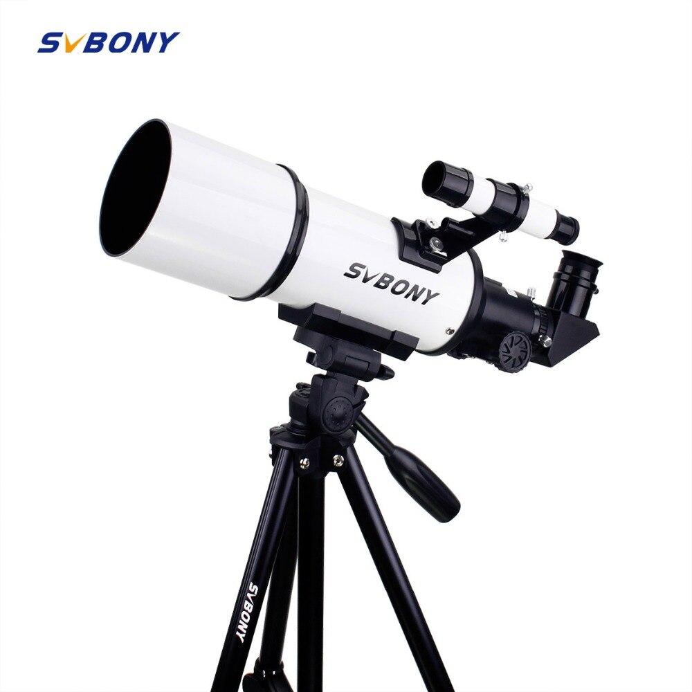SVBONY SV20 Lunette Astronomique 80mm Entièrement Enduit Verre Optique 54 En Alliage D'aluminium Photographique Trépied w/Portable Mont adaptateur