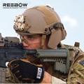 Rápido ballistic capacete Do Exército dos EUA de combate tático militar ao ar livre esportes protetor capacetes capacetes ABS material livre shiping
