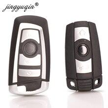 Jingyuqin 10pcs 3/4 כפתור מרחוק חכם רכב מפתח Shell עבור BMW 3 5 6 7 סדרת E90 E91 E92 e60 E61 X1 X3 X4 X5 X6 מפתח Fob מקרה