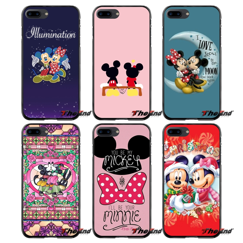 For Apple iPhone 4 4S 5 5S 5C SE 6 6S 7 8 Plus X iPod Touch 4 5 6 cute cartoon mickey minnie mouse Accessories Phone Cases Cover