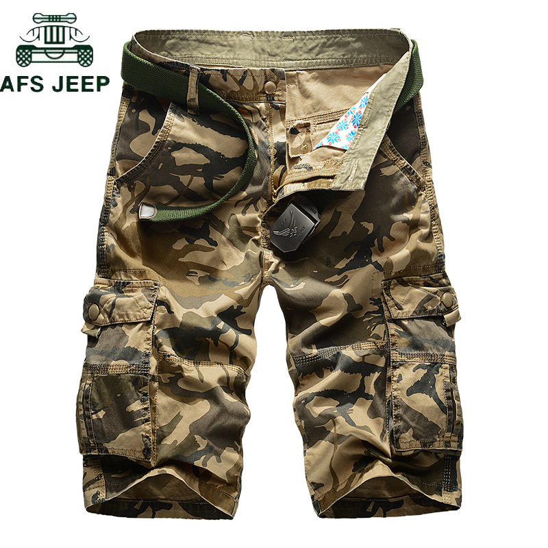 2018 New Cargo Shorts Men Camouflage Army Military Casual Shorts Pant homme Hip Hop Cotton High Quality Tactical Short masculino