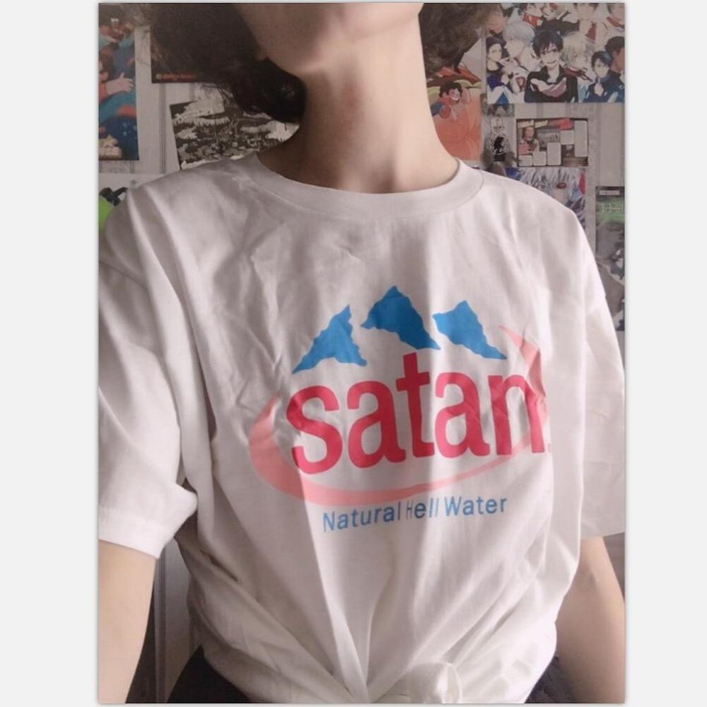 Hillbilly Satan Natural Hell Water Women Tshirt Loose Girl's