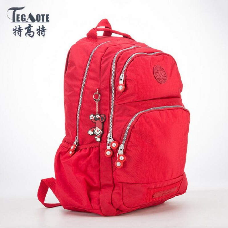 TEGAOTE School Backpack for Teenage Girls Mochila Feminina Escolar Women Backpacks Nylon Casual Laptop Bagpack Female Sac A Dos jf u printing backpack cute school bag korean style kpop rucksack women bookbags backpacks for teenage girls mochila feminina