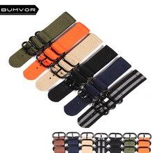 Black Buckle  20mm 22mm 24mm   Strong Cheap nato fabric Nylon Watch  Men Woven Strap Band Zulu belt watchbands все цены
