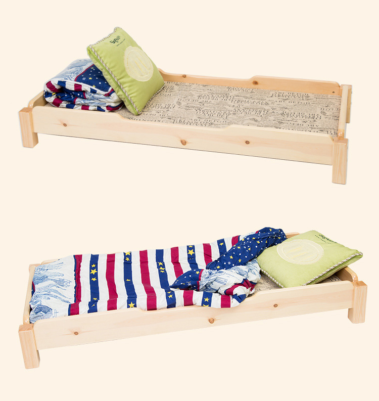 Children Beds Children Beds Kids Furniture Nap Bed Solid Wood Kids Bed With Mattress Guardrail Ladder Lit Enfant Baby Nest Moveis 202*124*70cm Children Furniture
