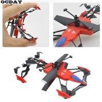 Wielofunkcyjny Mini 2CH Air-Ziemi RC Latające Drone Zabawki Dla Dzieci Samochód Dual Mode Powietrza Pilot Śmigłowca Quadcopter Drone Zabawki
