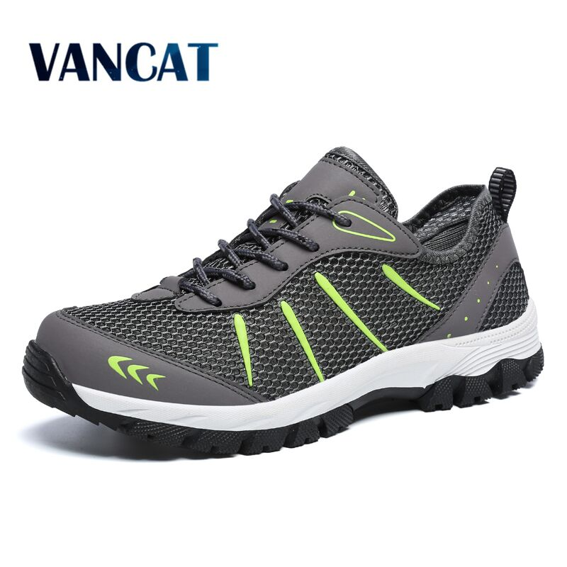 VANCAT 2018 New Spring Summer Breathable Mesh Outdoor Men Shoes Walking Non Slip Sneakers Flats Men Casual Shoes Big Size 39-48 2017 new rax spring and summer trace shoes men interference water breathable non slip hiking shoes mesh shock absorber insoles