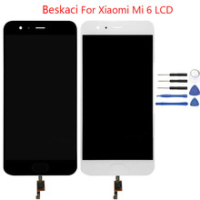 Beskaci For Xiaomi Mi 6 LCD Display Show Contact Panel With Fingerprint Meeting For Xiaomi Mi6 LCD Show Elements