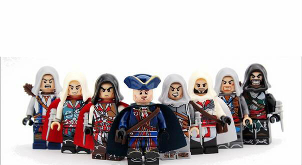 8pcs/Set Building Blocks Sets china brand assassins creed compatible with Lego