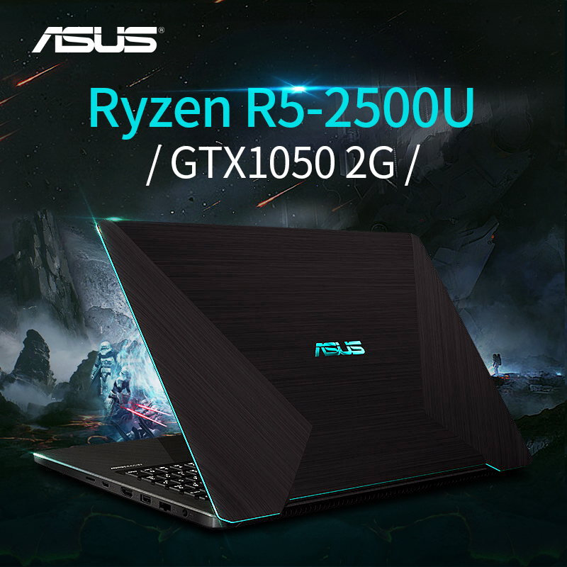 Ordinateur portable de jeu ASUS YX570ZD (AMD Ryzen 5 2500U/GTX1050/8GB RAM/180G SSD + 1T HDD/15.6 ''FHD) ordinateur portable ASUS-brande