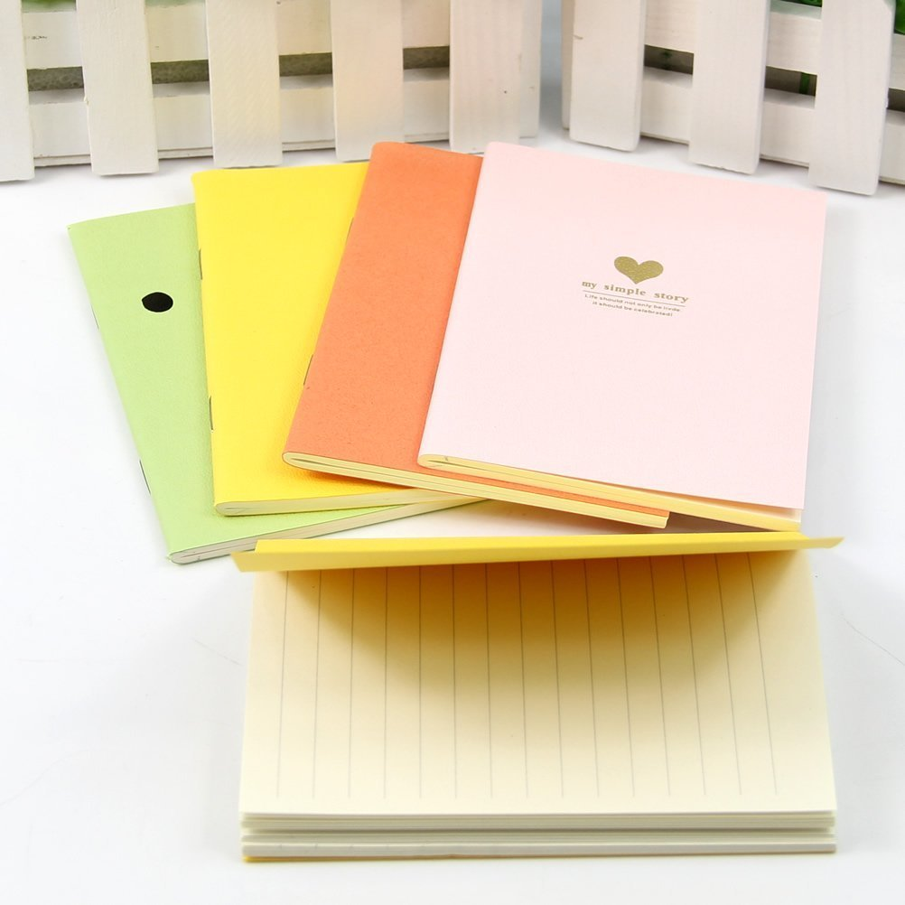 1 Pc Sweet Fresh Candy Color Cartoon Small Paper Notebook Portable Notepad New