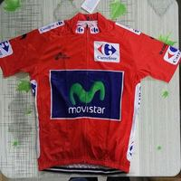 2016 La Vuelta Quintana Red Breathable Cycling Jerseys Short Sleeve Summer Quick Dry Clothing MTB Ropa