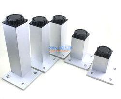 4 sztuk 250mm regulowany aluminium kwadratowych meble szafka nogi szafka stopy|Kółka|Majsterkowanie -