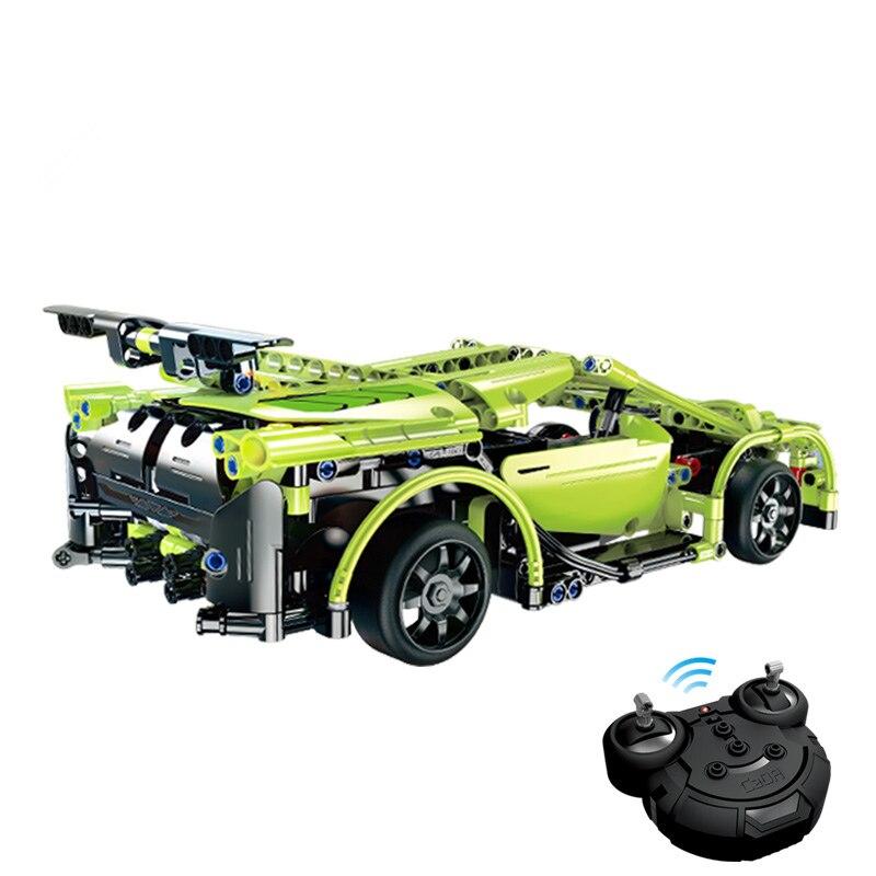 Cada serie técnica RC deporte coche modelo carreras coche SUV DIY bloques de construcción Control remoto coche ladrillos juguetes para niños-in Bloques from Juguetes y pasatiempos    3