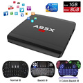 RK3229 A95X R1 TV Box + i8 Backlight Keyboard Rockchip Quad-core Android 6.0 1GB 8GB Smart HDMI 4K Wifi Streaming Media Player