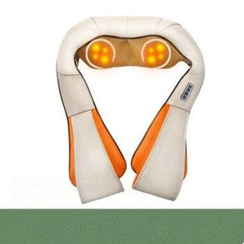 Angelruila U Shape Car/Home Neck Massager Electrical Shiatsu Shoulder Back Body Massagers Infrared 4D Massagem Flat EU Plug