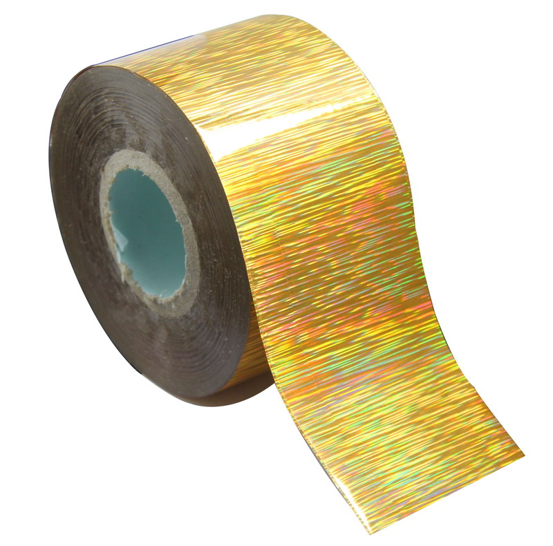 120m*4cm Holographic Nail Foil Rainbow Transfer Foil Sticker Finger Wraps Nail Art DIY Adhesive Manicure Beauty Decals WY306