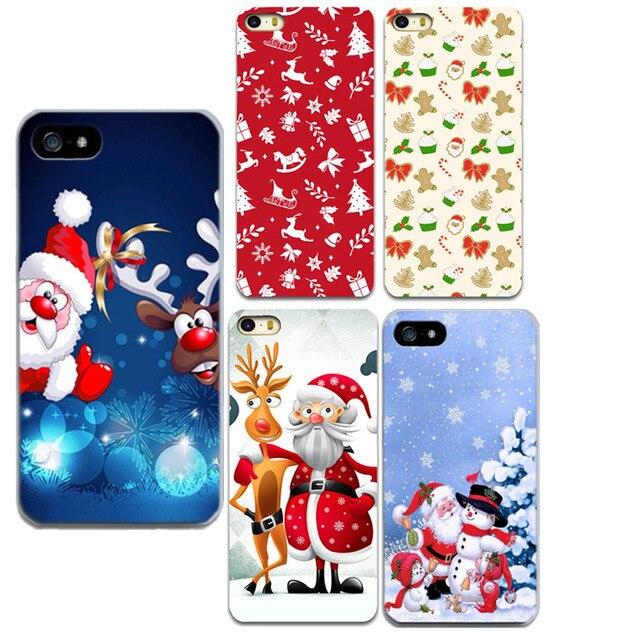 Чехол Новогодние товары Санта шаблон для Apple IPhone 5 5S SE 6 6 S 7 7 плюс мягкий Новогодние товары мобильного телефона для iPhone 7