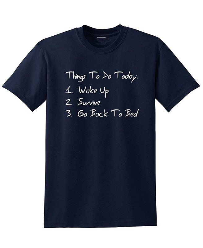 Cheap T Shirt Design Short Crew Neck Things To Do Today Printed Mens Tee in T Shirts from Men 39 s Clothing